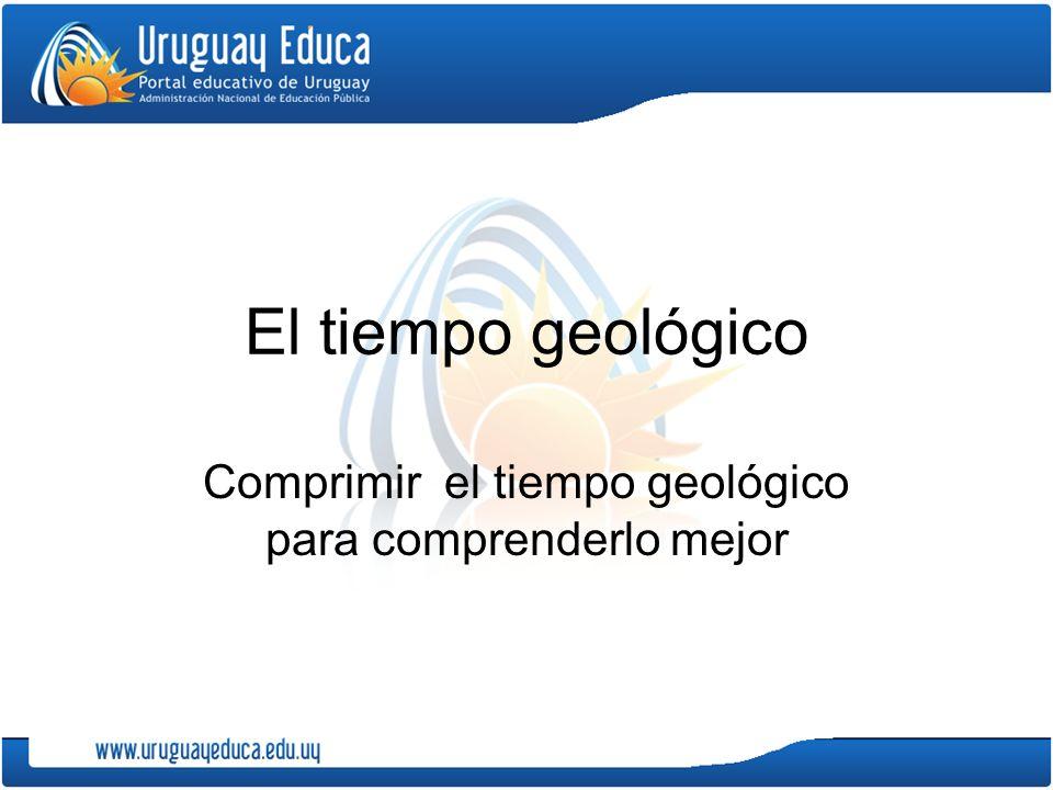 El tiempo geológico Comprimir el tiempo geológico para comprenderlo mejor