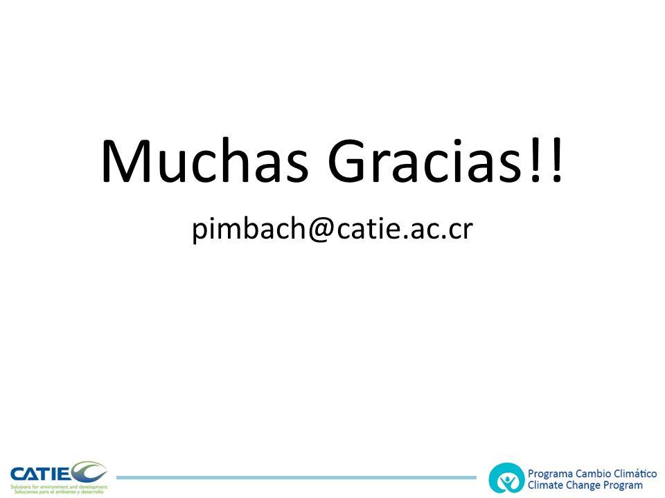 Muchas Gracias!! pimbach@catie.ac.cr