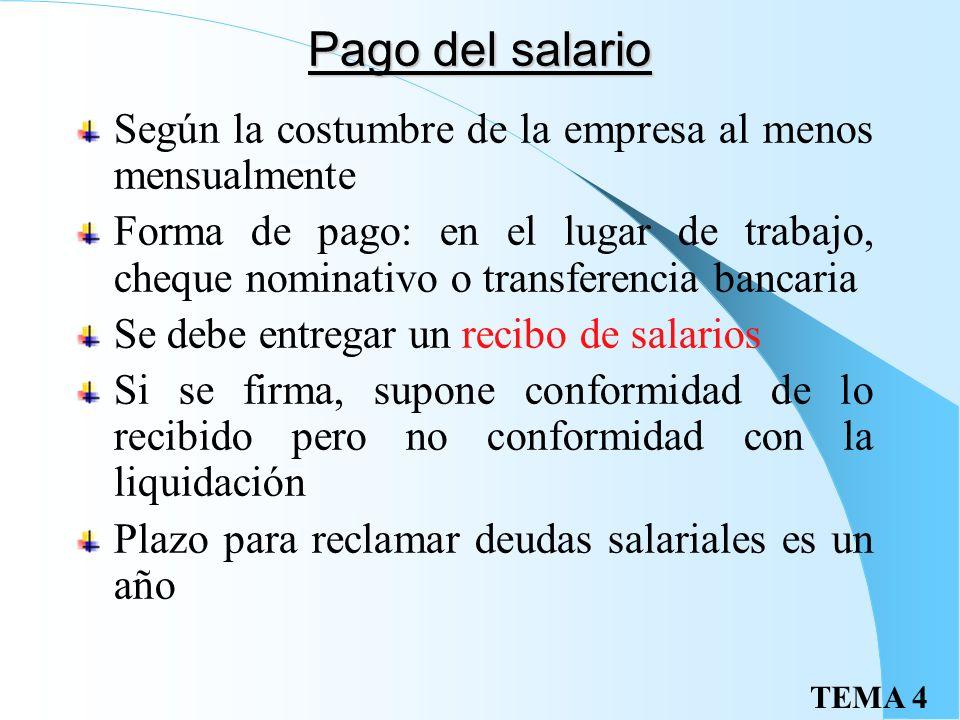 TEMA 4 Fondo de Garantía Salarial Organismo de garantía parcial de los salarios y las indemnizaciones por despido o extinción pendientes de pago Salar