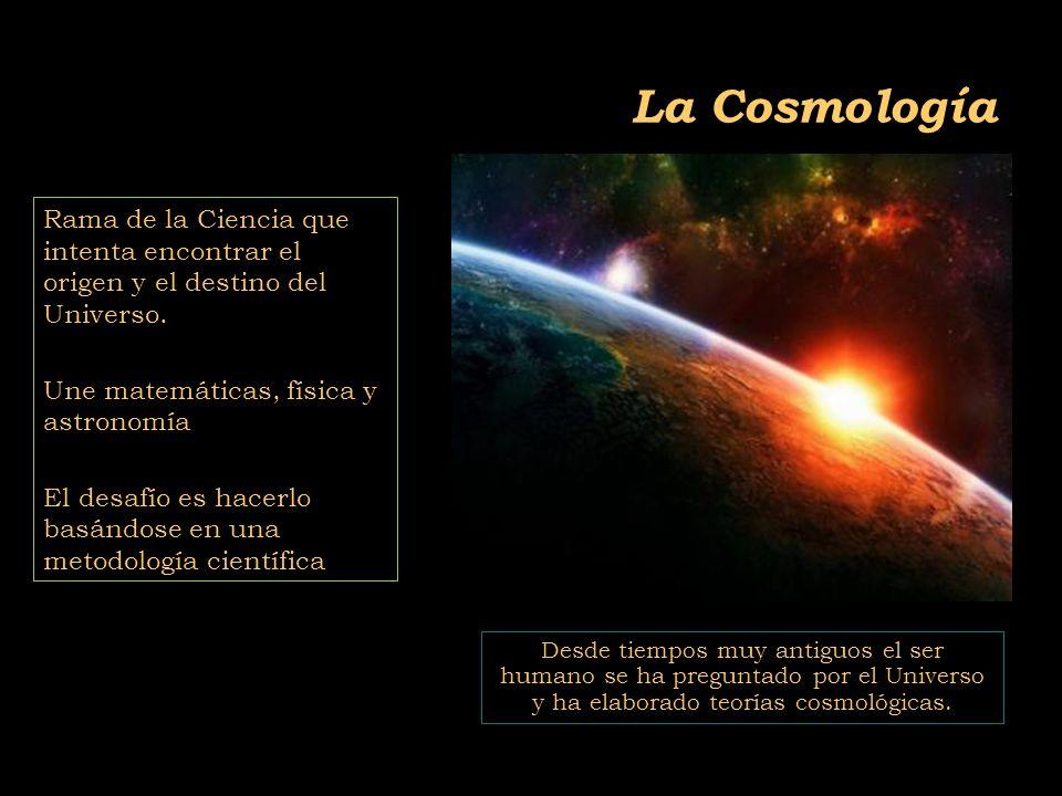 2011-04 Física moderna, Cosmología y Doctrina Secreta La Cosmología Rama de la Ciencia que intenta encontrar el origen y el destino del Universo.