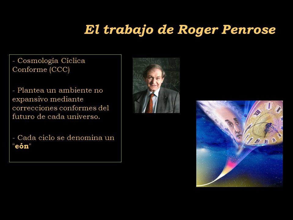 2011-04 Física moderna, Cosmología y Doctrina Secreta El trabajo de Roger Penrose - Cosmología Cíclica Conforme (CCC) - Plantea un ambiente no expansivo mediante correcciones conformes del futuro de cada universo.