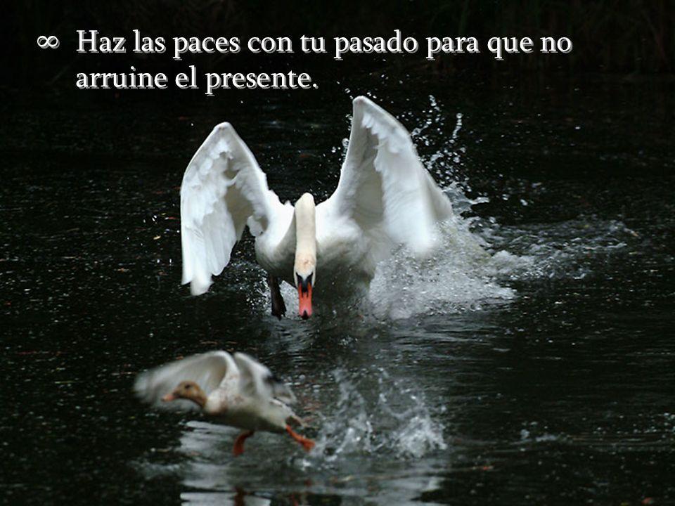 Haz las paces con tu pasado para que no arruine el presente.