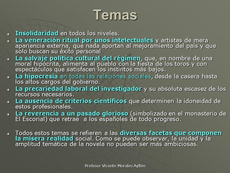 Profesor Vicente Morales AyllónTemas Insolidaridad en todos los niveles. Insolidaridad en todos los niveles. La veneración ritual por unos intelectual