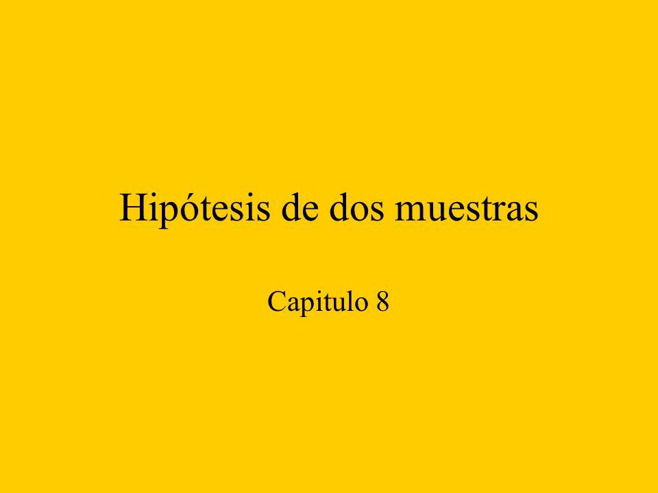 Hipótesis de dos muestras Capitulo 8