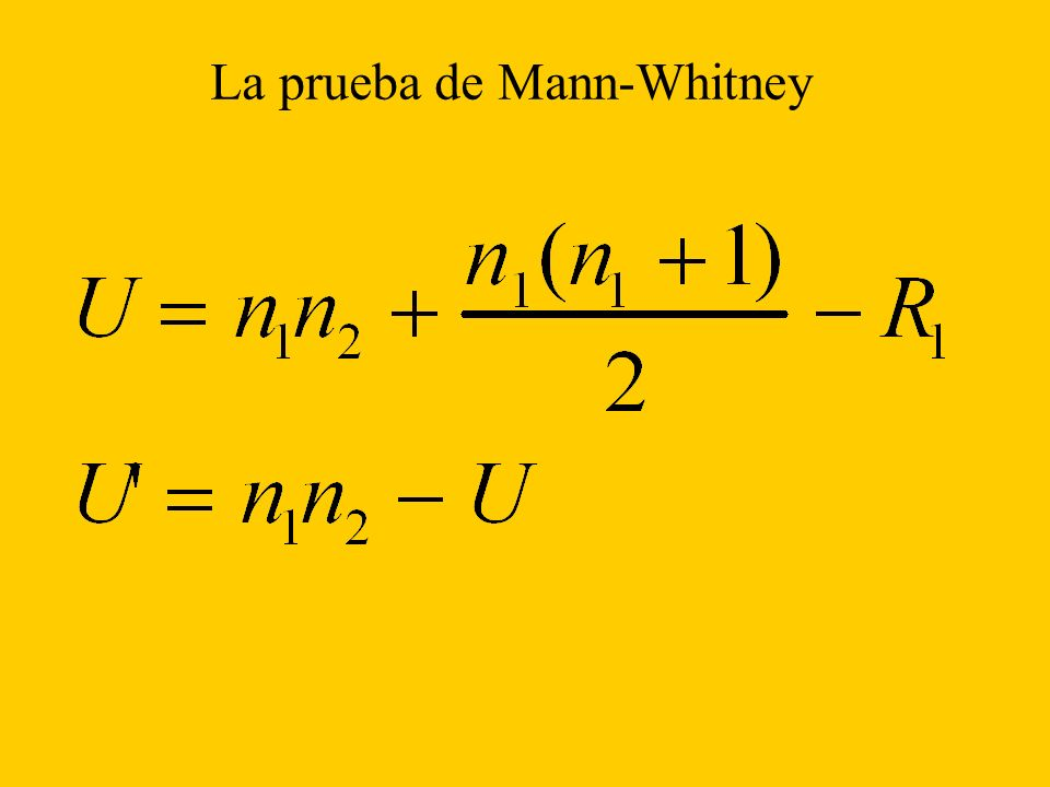 La prueba de Mann-Whitney