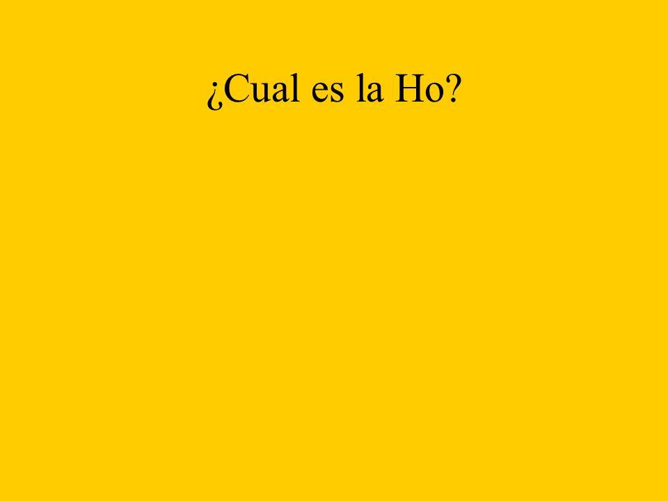 Ho: Ha: