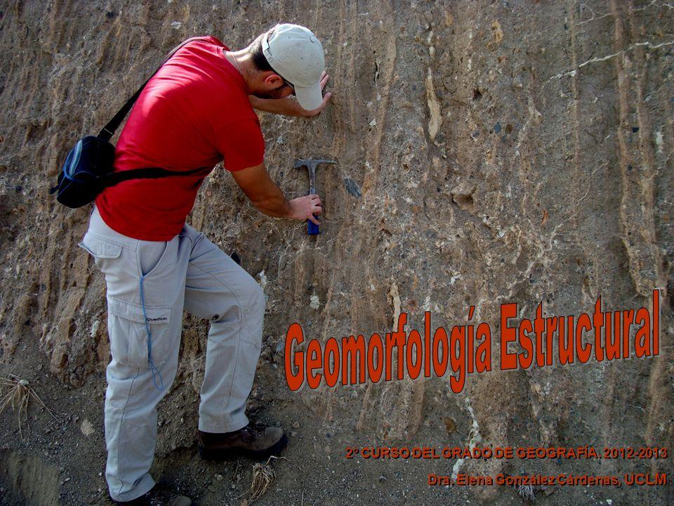 GEOMORFOLOGÍA ESTRUCTURAL 2º CURSO DEL GRADO DE GEOGRAFÍA.