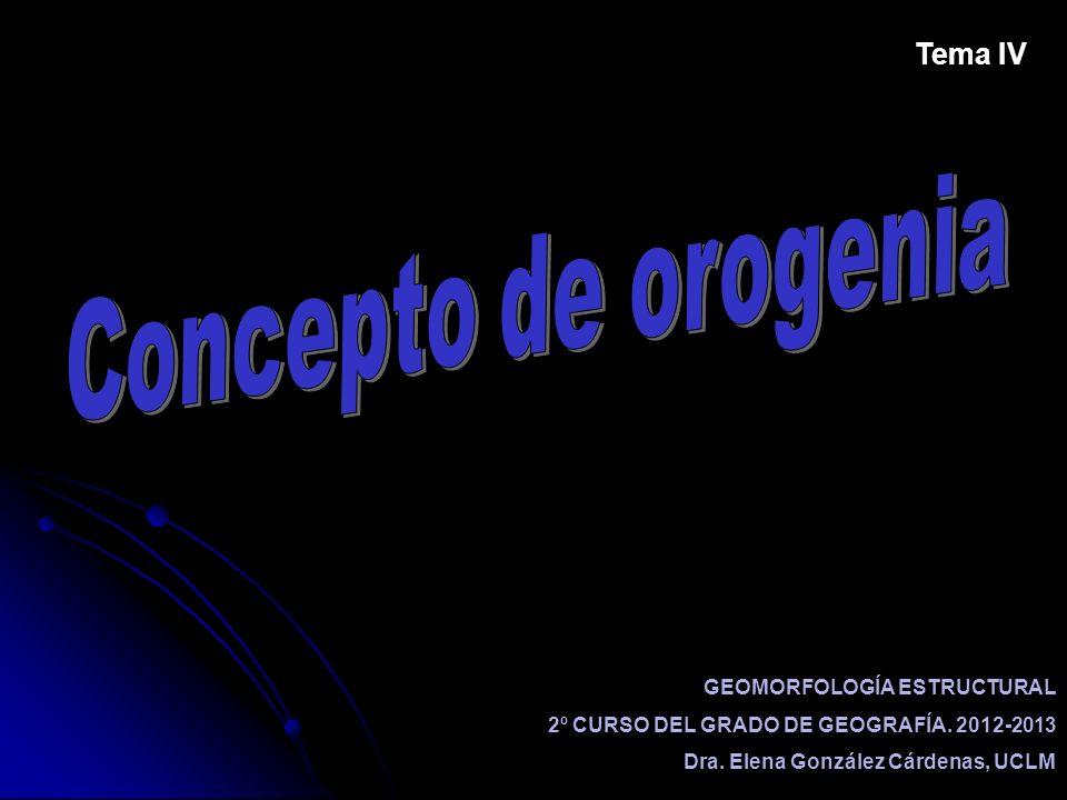 GEOMORFOLOGÍA ESTRUCTURAL 2º CURSO DEL GRADO DE GEOGRAFÍA. 2012-2013 Dra. Elena González Cárdenas, UCLM Tema IV