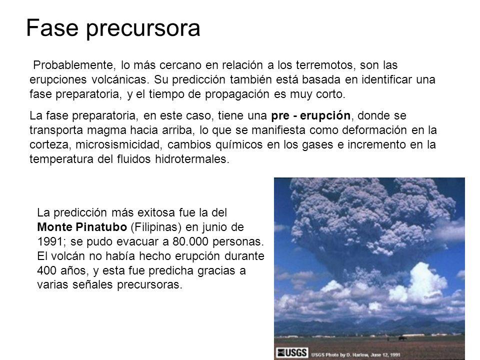 Probablemente, lo más cercano en relación a los terremotos, son las erupciones volcánicas.