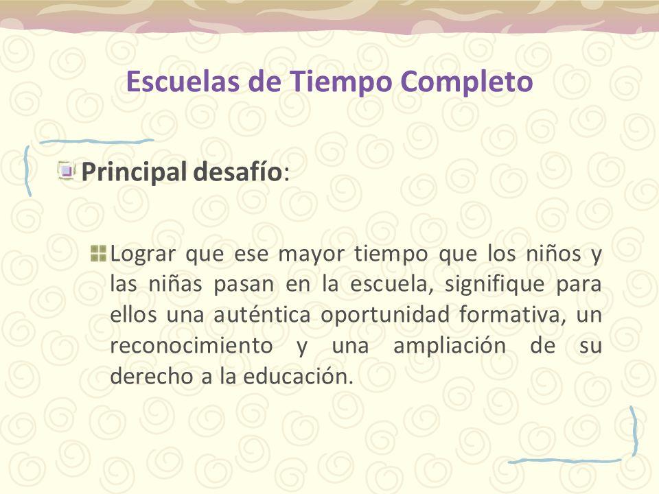 Propuesta pedagógica del PETC Lograr: Introducción de las líneas de trabajo para fortalecer el curriculum nacional.