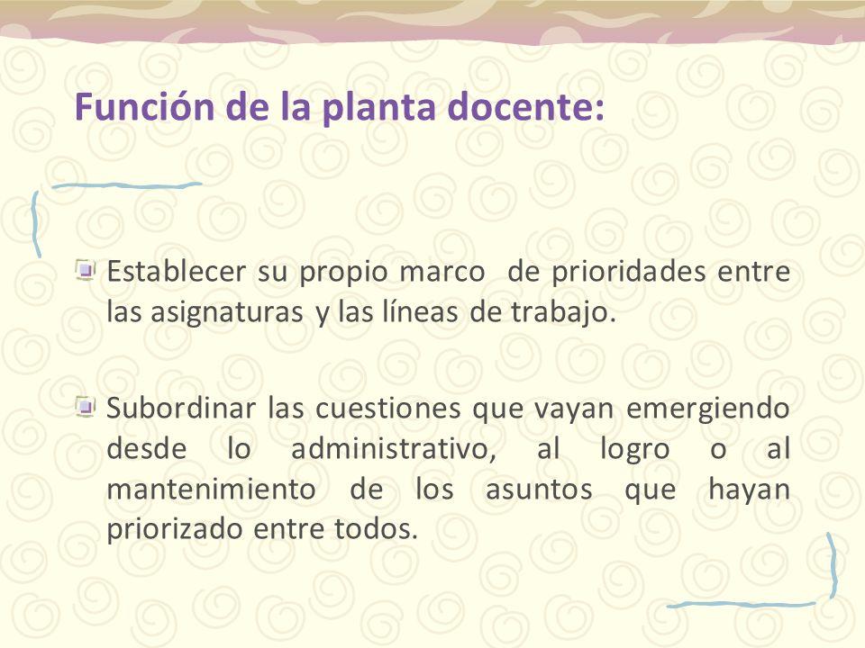 Marco de prioridades del Plantel Otorgar gran importancia a los encuentros entre docentes.