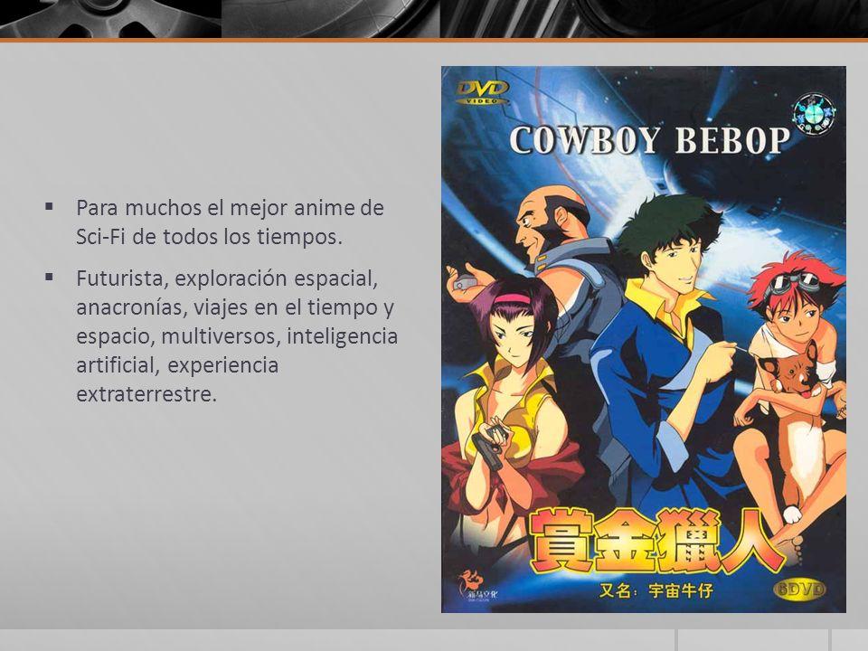 Para muchos el mejor anime de Sci-Fi de todos los tiempos. Futurista, exploración espacial, anacronías, viajes en el tiempo y espacio, multiversos, in