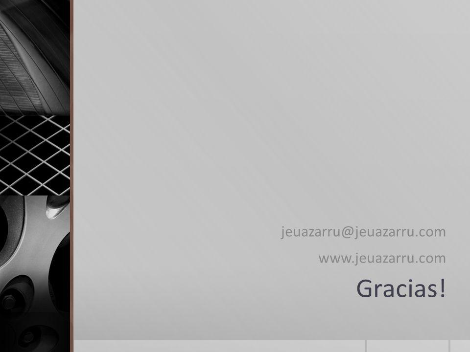 Gracias! jeuazarru@jeuazarru.com www.jeuazarru.com