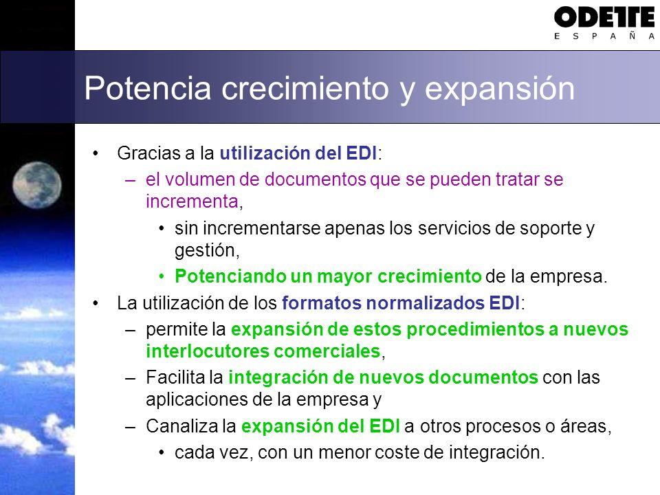 Mejora el servicio al cliente Los documentos EDI, procesados sin intervención humana: –garantizan la integridad de los datos, tanto en los sistemas del emisor como en los del receptor.
