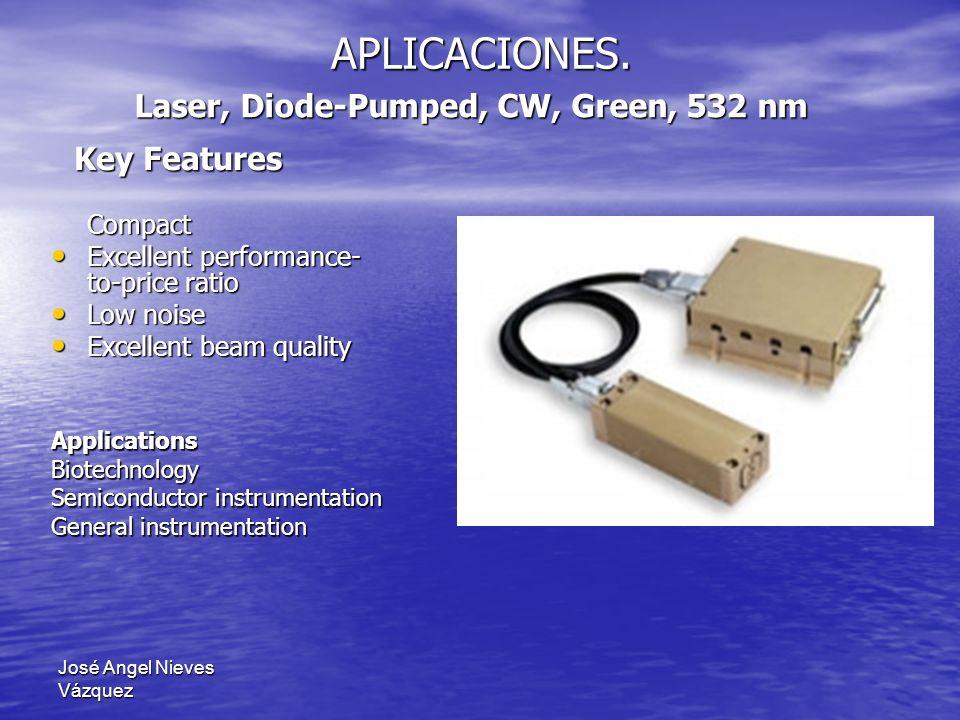 José Angel Nieves Vázquez APLICACIONES. Compact Excellent performance- to-price ratio Excellent performance- to-price ratio Low noise Low noise Excell