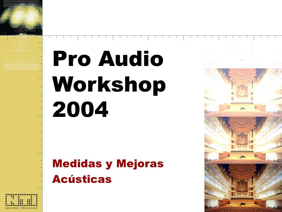 Start Pro Audio Workshop 2004 Medidas y Mejoras Acústicas
