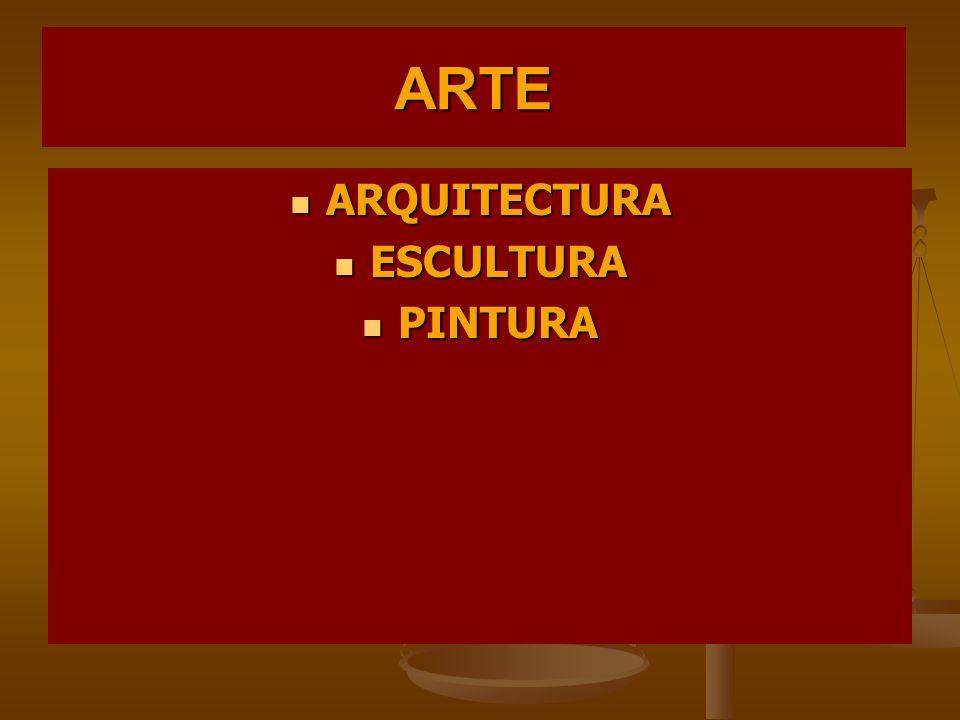 ARTE ARQUITECTURA ARQUITECTURA ESCULTURA ESCULTURA PINTURA PINTURA