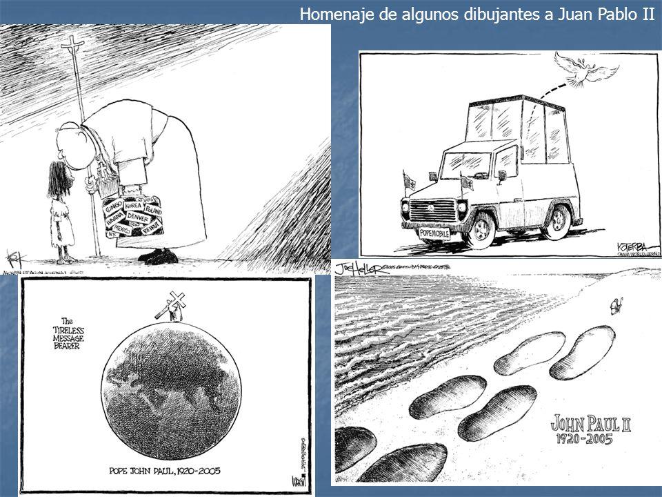 Homenaje de algunos dibujantes a Juan Pablo II