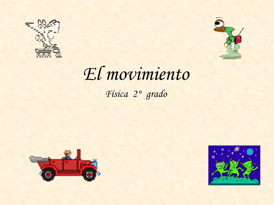 El movimiento Física 2° grado