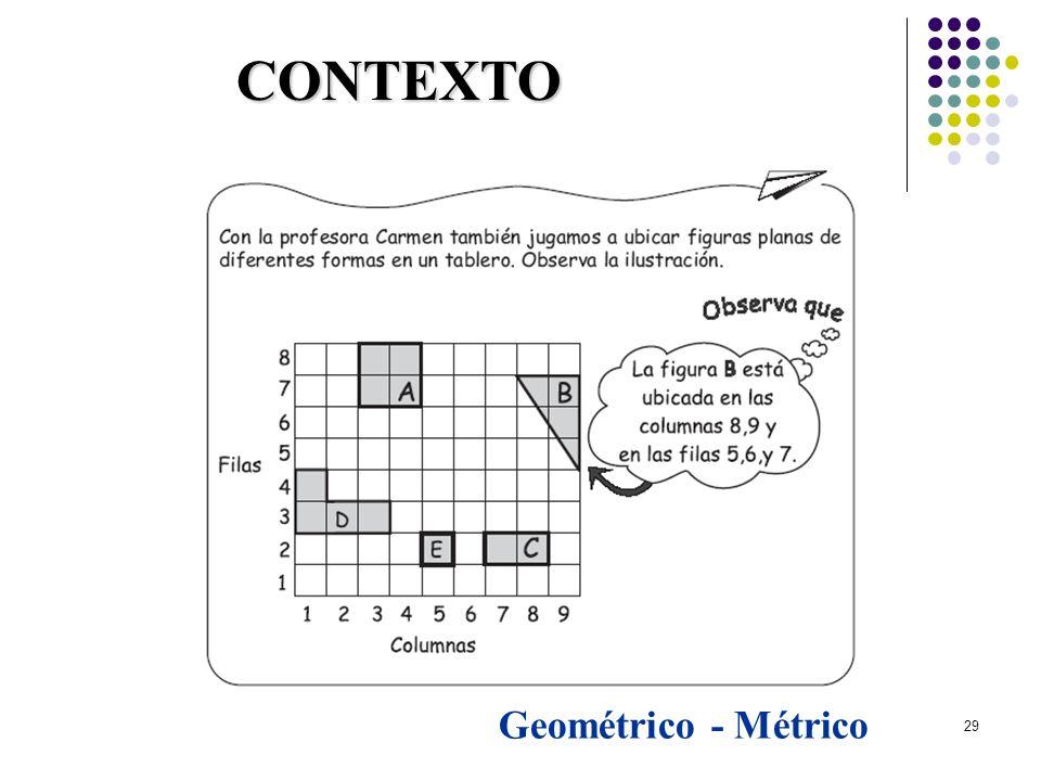 29 Geométrico - Métrico CONTEXTO