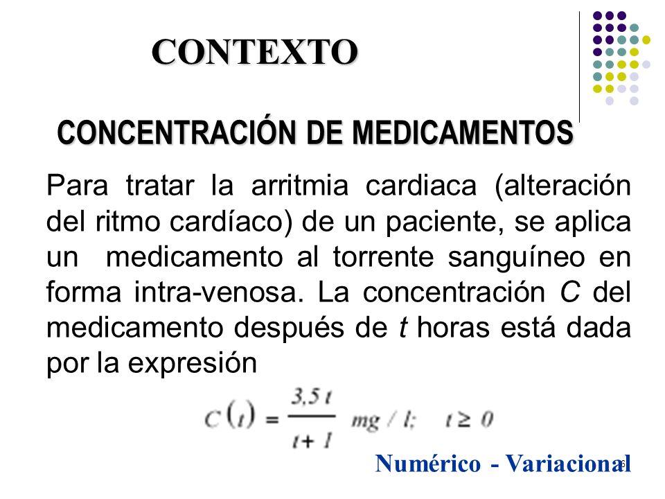 6 Para tratar la arritmia cardiaca (alteración del ritmo cardíaco) de un paciente, se aplica un medicamento al torrente sanguíneo en forma intra-venos