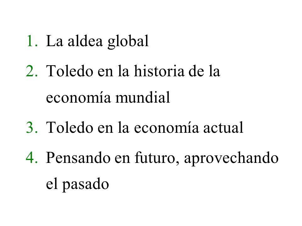 Toledo en la economía actual Toledo capital 70.000 habitantes / 13% de la provincia (525.000h.) / 4% de CLM (1.750.000 h.) / Menos del 2 población España (40 millones) Capacidad total de compra: 840 millones (70.000 h.