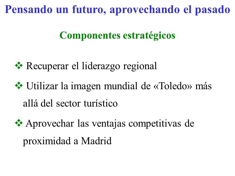 Pensando un futuro, aprovechando el pasado Componentes estratégicos Recuperar el liderazgo regional Utilizar la imagen mundial de «Toledo» más allá de