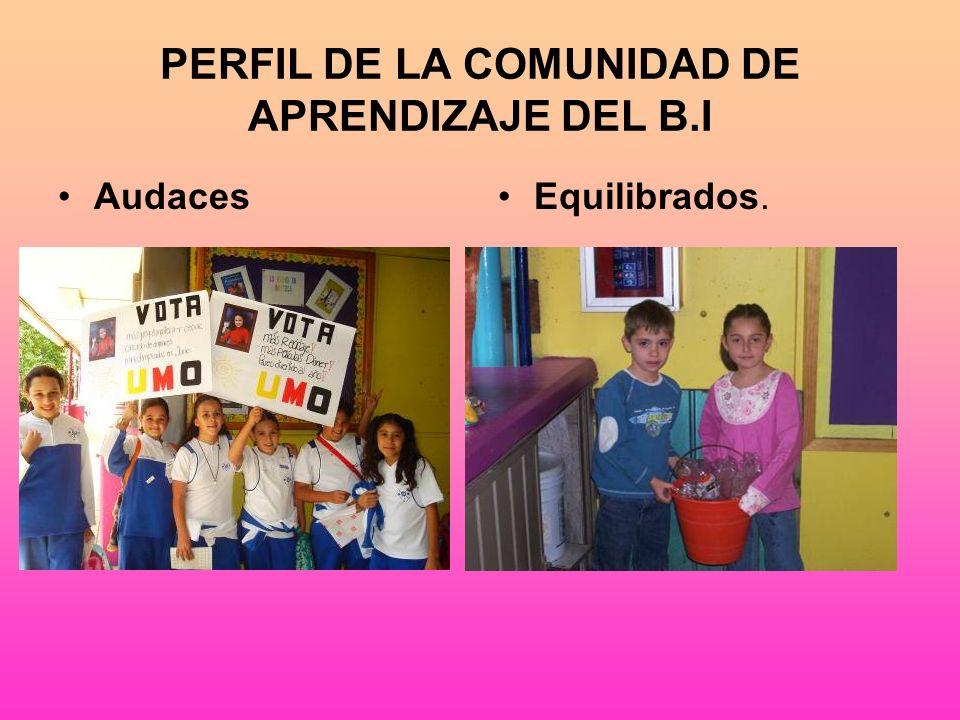 PERFIL DE LA COMUNIDAD DE APRENDIZAJE DEL B.I Solidarios Pensadores