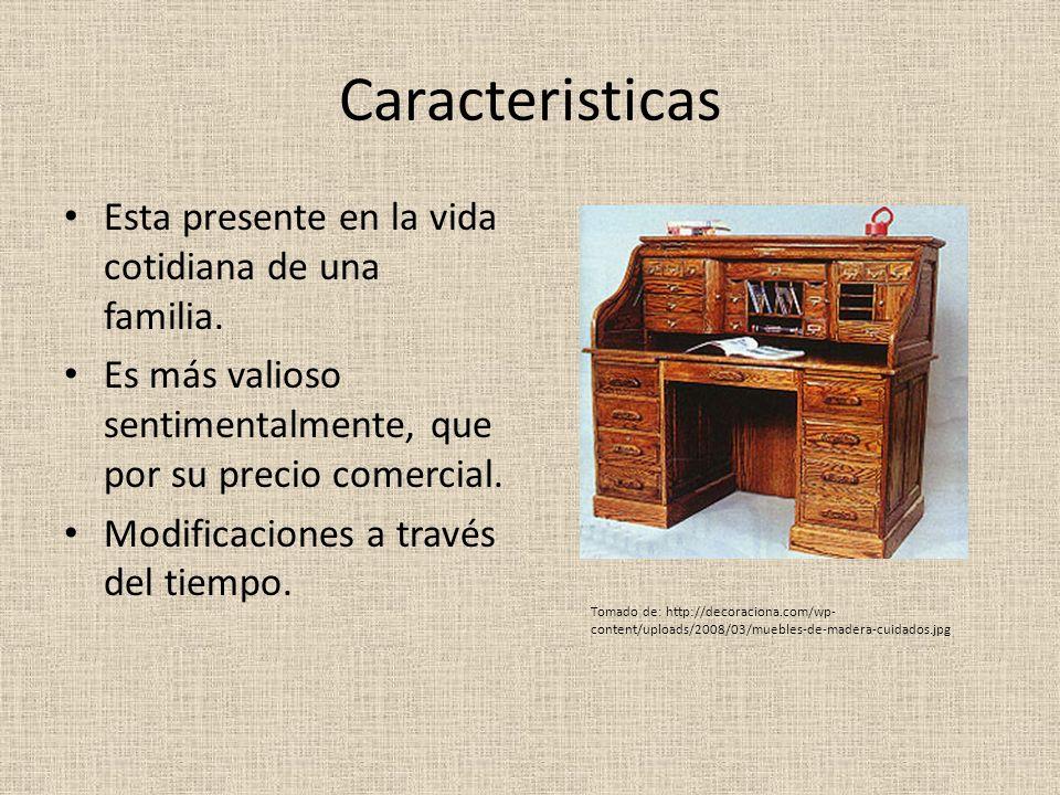 Origen del objeto El objeto mudable, normalmente se a transmitido de generación en generación.