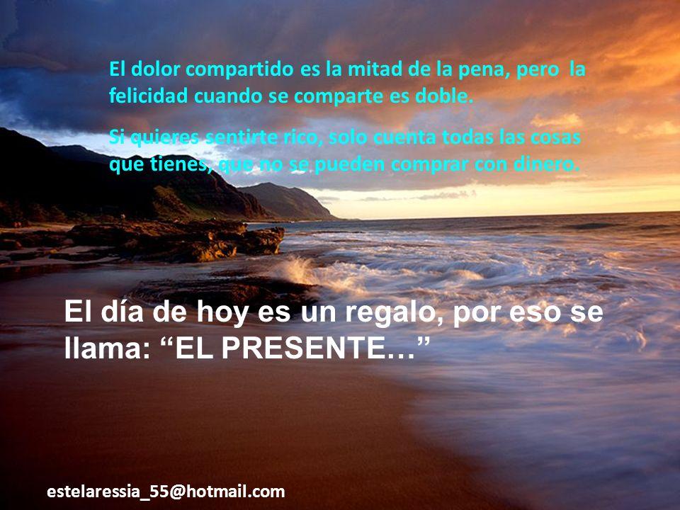 Lección: Hay mucha felicidad haciendo feliz a otras personas, a pesar de nuestras situaciones.