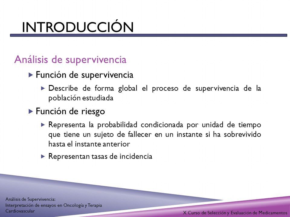 X Curso de Selección y Evaluación de Medicamentos Análisis de Supervivencia: Interpretación de ensayos en Oncología y Terapia Cardiovascular Ann Intern Med.