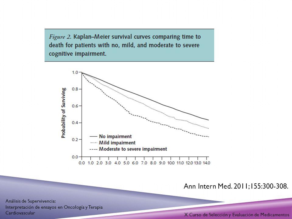 X Curso de Selección y Evaluación de Medicamentos Análisis de Supervivencia: Interpretación de ensayos en Oncología y Terapia Cardiovascular Altman et al.