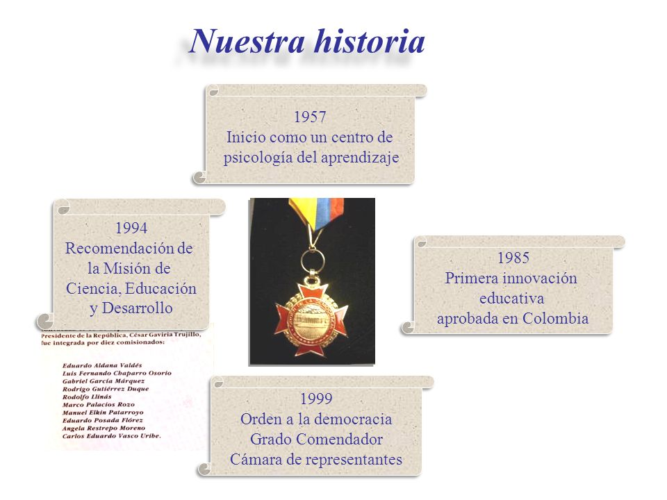 1985 Primera innovación educativa aprobada en Colombia 1985 Primera innovación educativa aprobada en Colombia 1994 Recomendación de la Misión de Cienc