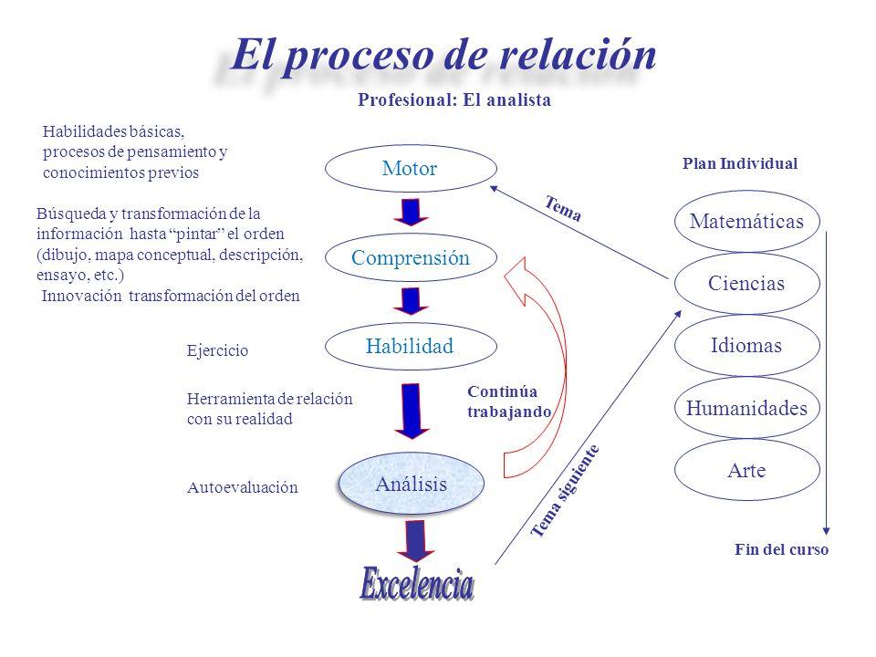 Herramienta de relación con su realidad Motor Búsqueda y transformación de la información hasta pintar el orden (dibujo, mapa conceptual, descripción,