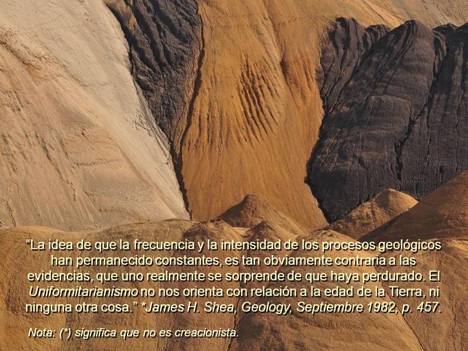 Los evolucionistas afirman que los estratos con millones de fósiles, petróleo, gas natural y carbón; las conchas marinas en las cuevas de las más altas montañas; los profundos cañones con pequeños ríos en sus profundidades; y los escarpados acantilados de montañas formadas por grandes y sólidos bloques, son consecuencia de procesos lentos y graduales.