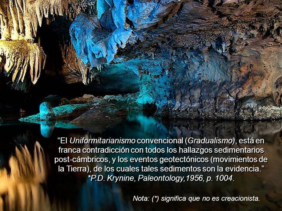 Al Uniformitarianismo le es particularmente difícil explicar, y aplicar sus principios, al origen de las geosinclinales (sedimentos torcidos o doblado
