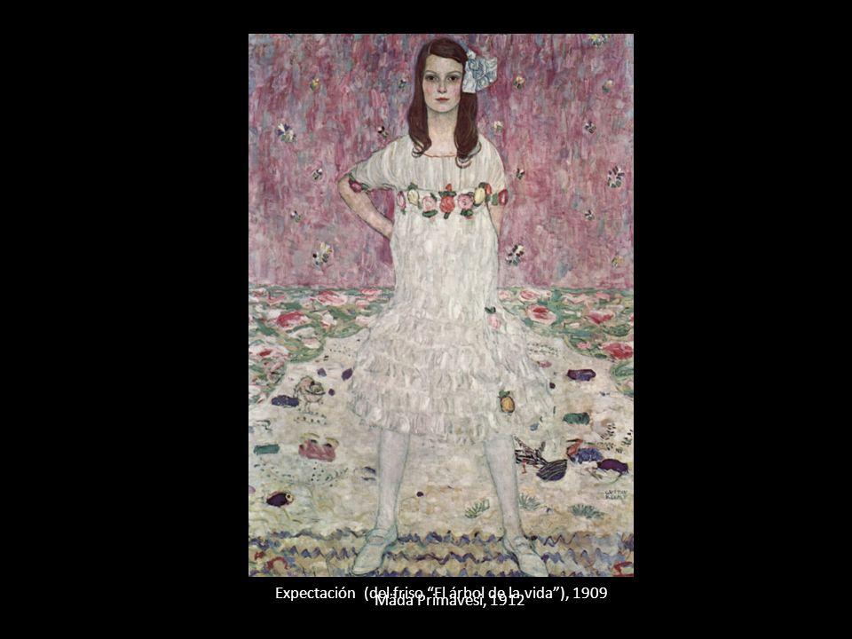 Expectación (del friso El árbol de la vida), 1909 Mäda Primavesi, 1912