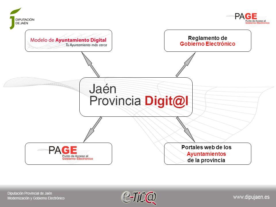 Reglamento de Gobierno Electrónico Portales web de los Ayuntamientos de la provincia
