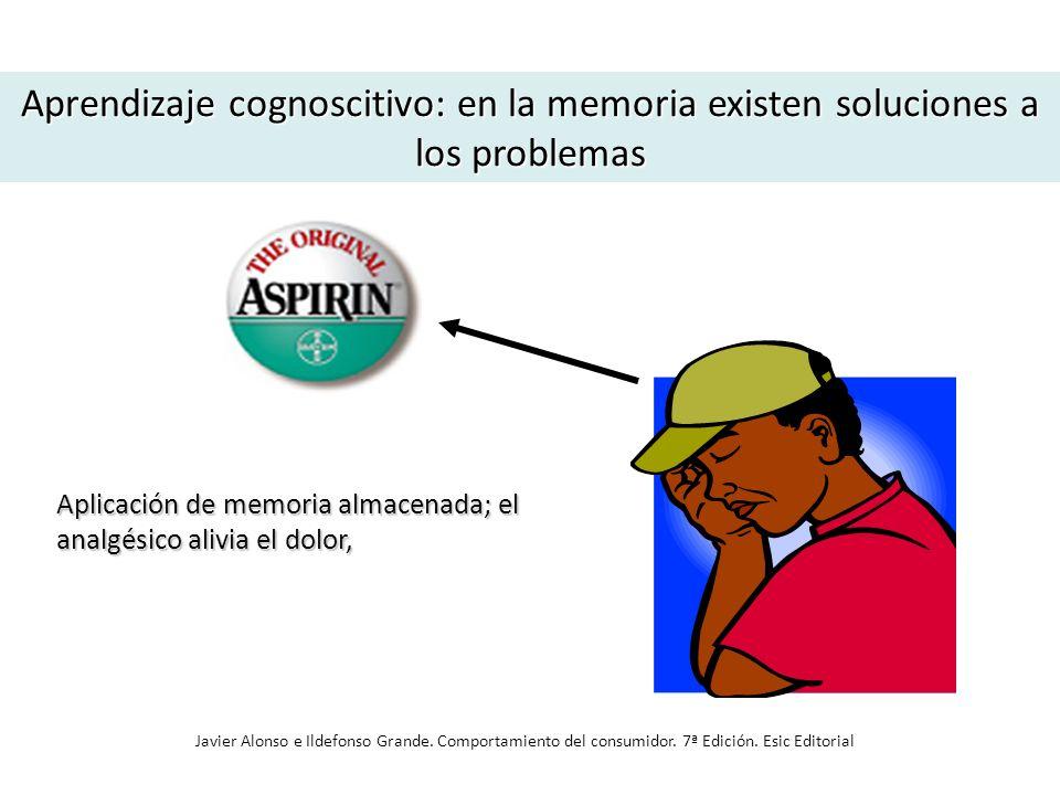 Aprendizaje cognoscitivo: en la memoria existen soluciones a los problemas Aplicación de memoria almacenada; el analgésico alivia el dolor, Javier Alo