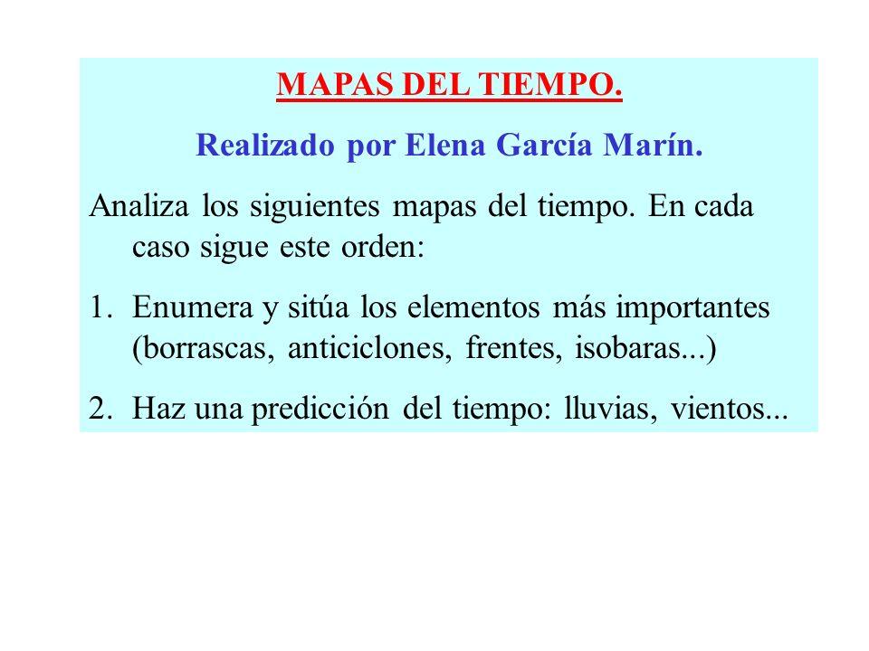 MAPAS DEL TIEMPO.Realizado por Elena García Marín.