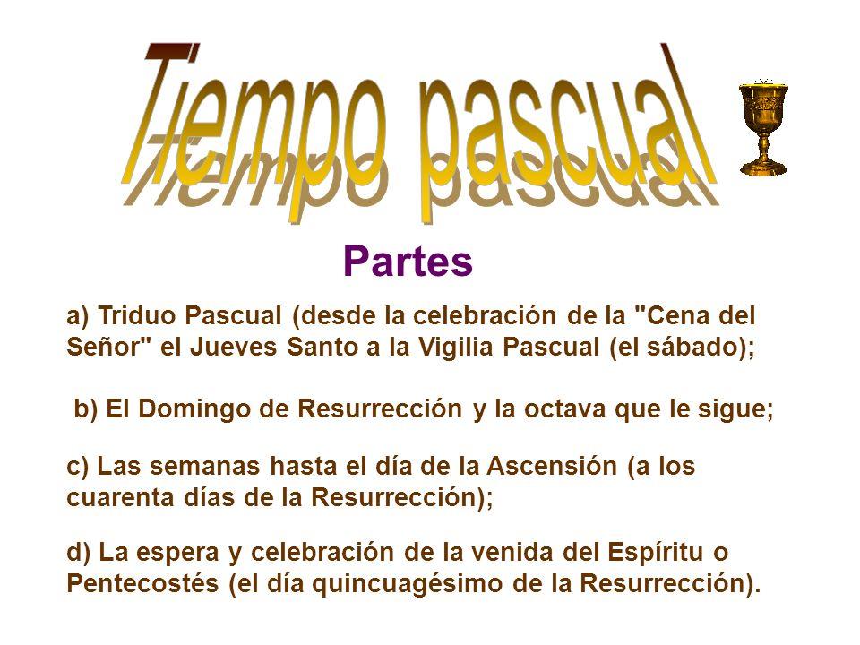 a) Triduo Pascual (desde la celebración de la