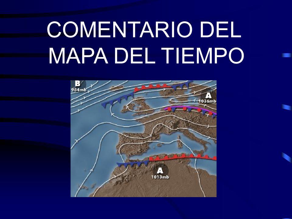 Aire Cálido Aire Frío FRENTES Masas de Aire Distribución de las masas de aire en relación con los frentes