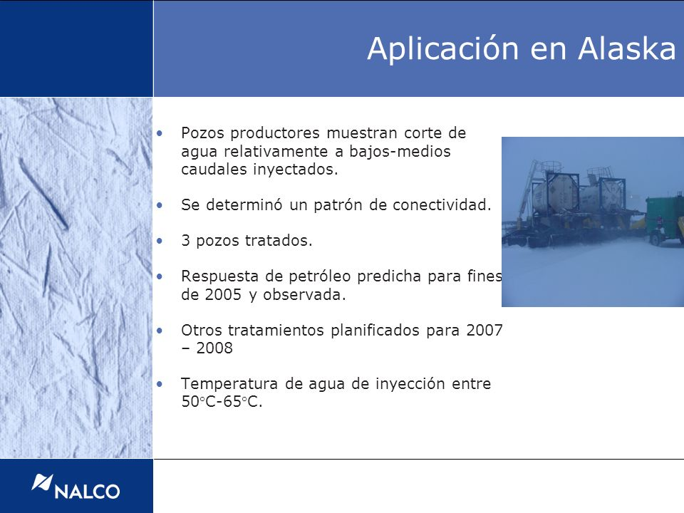 Treatments applied Actual Production rates Base Production rates Production restrictions Aplicación en Alaska