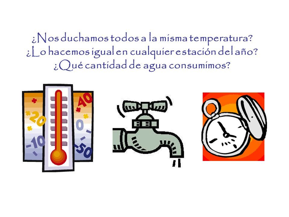 Variación de temperatura por estaciones 1.La temperatura media de ducha* en invierno es de 39,94º C, y la de verano de 40,5.