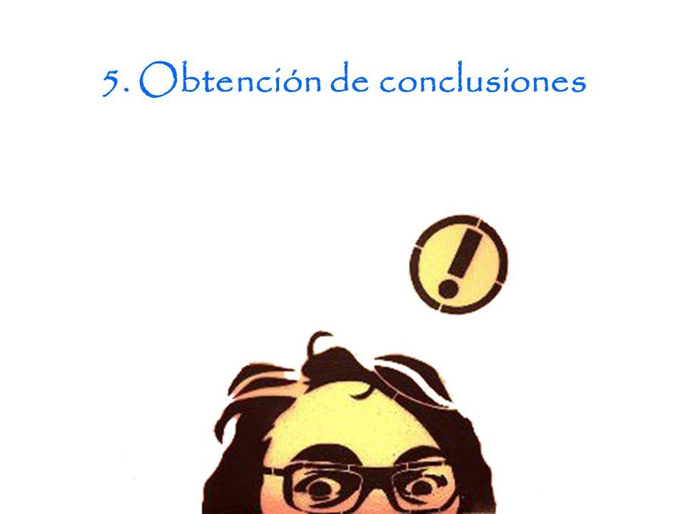 5. Obtención de conclusiones