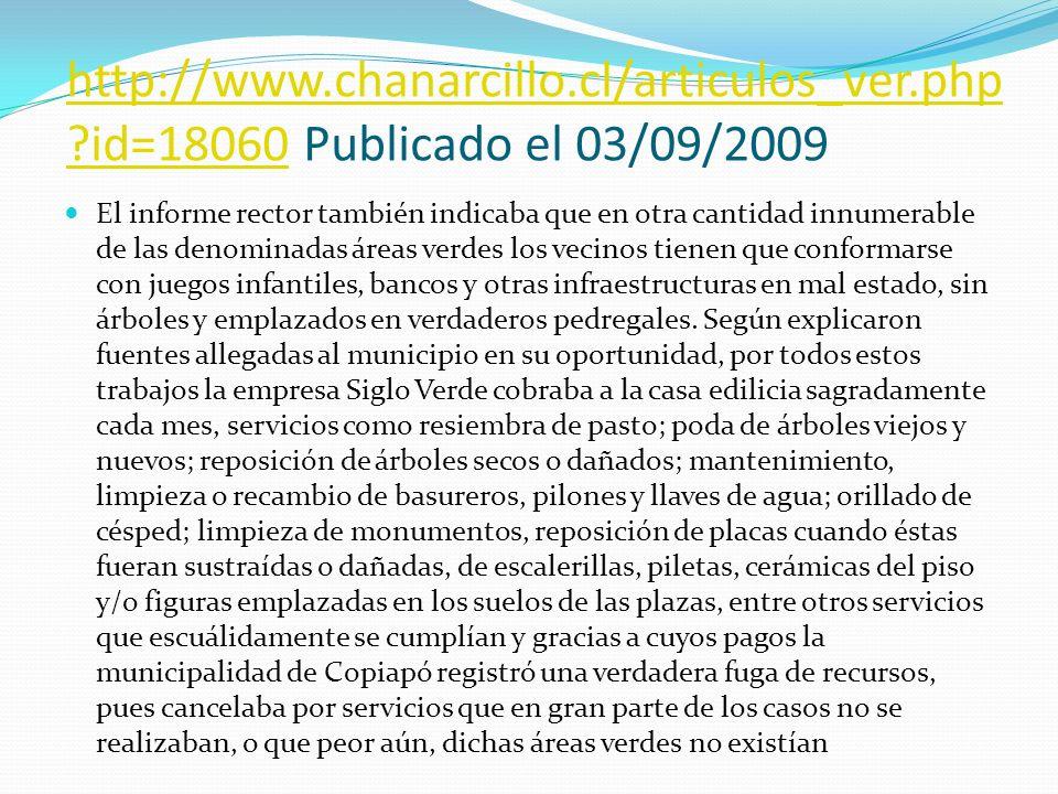 http://www.chanarcillo.cl/articulos_ver.php ?id=18060http://www.chanarcillo.cl/articulos_ver.php ?id=18060 Publicado el 03/09/2009 El informe rector t