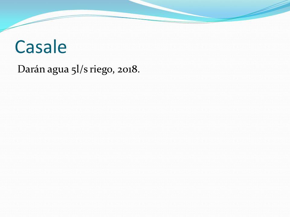 Casale Darán agua 5l/s riego, 2018.