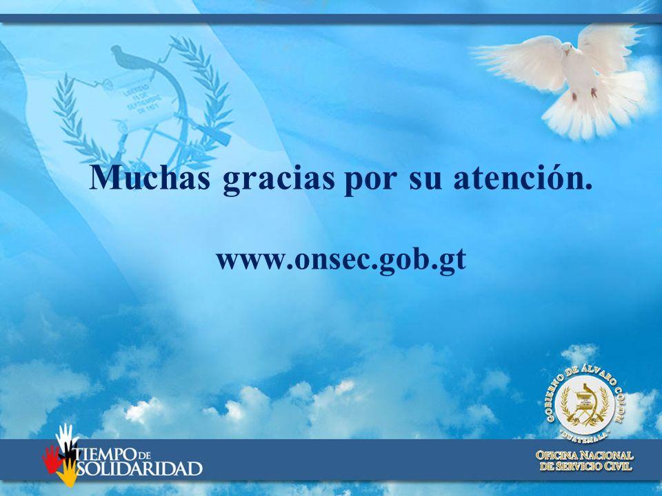 Muchas gracias por su atención. www.onsec.gob.gt