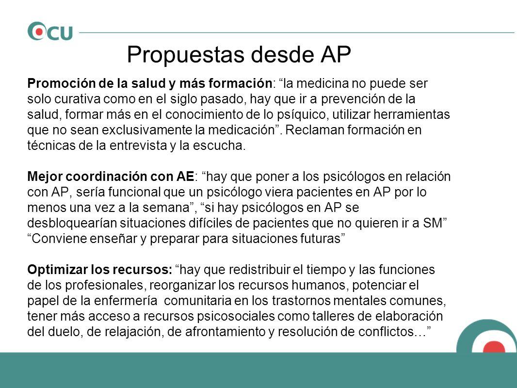 Propuestas desde AP Promoción de la salud y más formación: la medicina no puede ser solo curativa como en el siglo pasado, hay que ir a prevención de