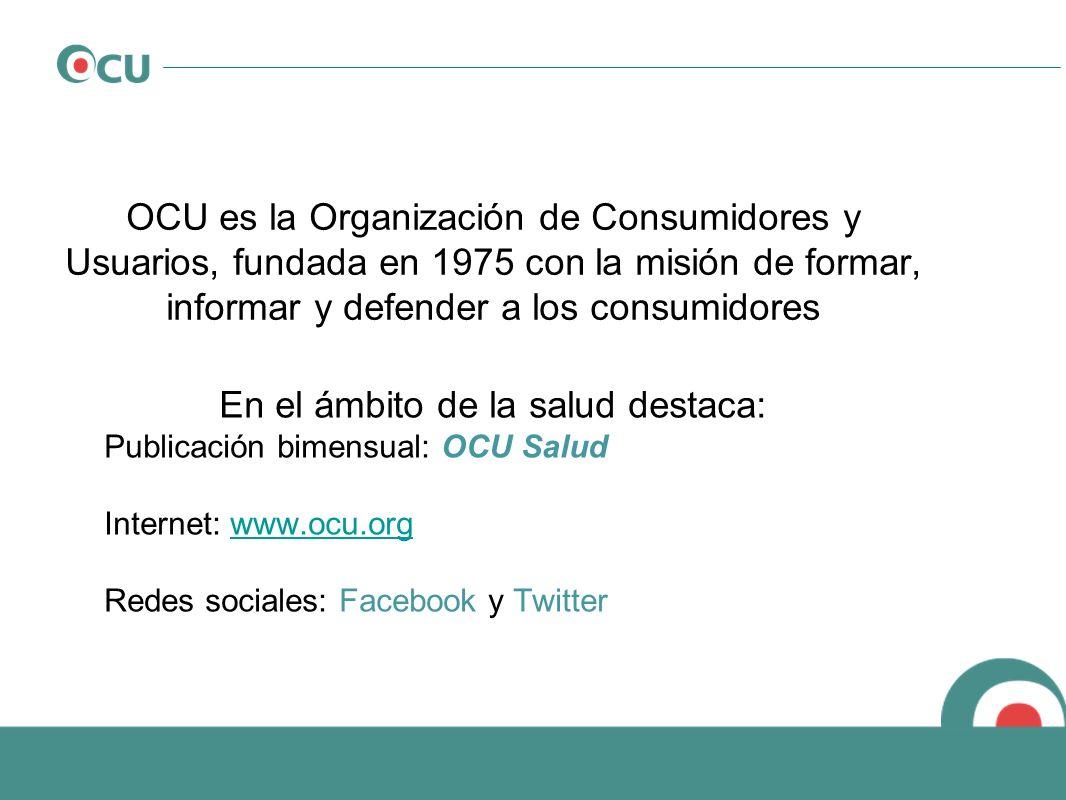 OCU es la Organización de Consumidores y Usuarios, fundada en 1975 con la misión de formar, informar y defender a los consumidores En el ámbito de la